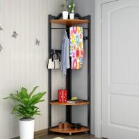 衣服架落地卧室创意挂衣架墙角置物架简易转角衣帽架赠送实木衣架