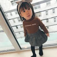 女童半裙毛呢宝宝半身裙子韩版公主高腰秋冬儿童短裙童装女