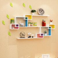 电视背景墙装饰架墙体壁挂墙上置物架免打孔墙面创意格子卧室客厅