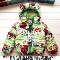 童装棉衣GG 2017冬款加厚加绒儿童卡通双面棉衣 棉袄厚152401