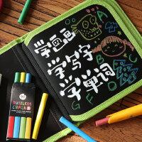美乐 儿童粉笔画包涂鸦写字本黑板小画本套装便携小画板可擦绘本