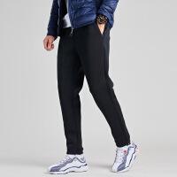 【361度双十二 2件4折】361度加绒运动长裤男2019冬季新款修身保暖针织长裤男