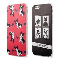【全国包邮】hidog 苹果iPhone6手机壳4.7浮雕卡通狗狗6plus软硅胶套5s外壳男女