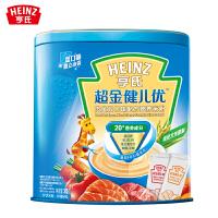 亨氏超金健儿优肉鱼双口味婴儿配方营养米粉罐装2段375g 小袋分装