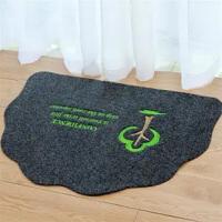地垫门垫进门 时尚可爱半圆形脚垫居家门厅防滑家用地毯地板垫子