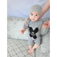 婴儿连体衣服宝宝新生儿季爬服01岁个月春款短袖哈衣睡衣
