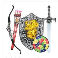 儿童弓箭吸盘射击玩具套装传统玩具弩宝剑盾牌组合男孩玩具礼物