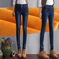 加绒牛仔裤女冬季小脚裤长裤新款百搭加厚显瘦铅笔裤女裤子