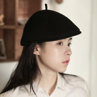 英伦画家帽马术帽骑士帽休闲蓓蕾帽文艺复古鸭舌帽女羊毛呢贝雷帽