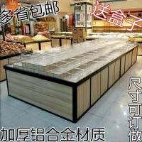 超市散装柜小食品干果展示架柜子零食饼干糖果散称货架 1.2*2.4 送32个半透明盒子 1.2*2