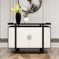 现货新中式玄关柜隔断柜实木现代简约备客厅餐柜门厅入户鞋柜 整装 箱框结构
