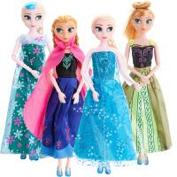 冰雪奇缘娃娃玩具艾莎公主安娜套装娃娃大礼盒女孩玩具爱莎公主