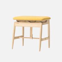 新品日出梳妆凳北欧家具实木软包凳子卧室床边换鞋凳