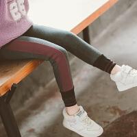 加绒秋冬装儿童洋气裤子大童外穿一体保暖棉裤冬季女童打底裤