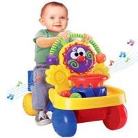婴幼儿音乐多功能二合一宝宝学步手推车可坐 hl-a2053