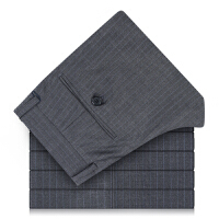 Youngor/雅戈尔商务正装裤子羊毛蚕丝灰色西裤单售TX23493-*12DGB
