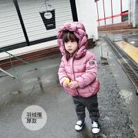 冬季婴幼儿宝宝连帽独特帽檐麻花羽绒服拉链外套上衣冬款