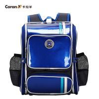 卡拉羊书包儿童减负护脊双肩包小学生1-3-5年级学生背包CX2649