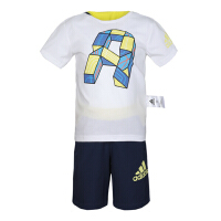 adidas阿迪达斯2019男小童LB CD TEE SET CLIMA系列短袖套服DZ2419