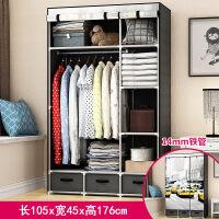 简易衣柜简易布衣柜钢管加粗加固组装布艺衣柜单人经济型简约现代