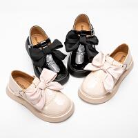 女童皮鞋女孩英伦风软底防滑公主鞋小学生春秋时尚单鞋