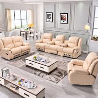 头等太空多功能组合舱懒人躺椅电动单人家庭影院摇椅智能真皮沙发