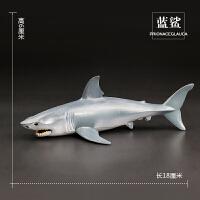 仿真海洋生物动物模型玩具虎鲸大白鲨鱼玩具海龟海豚魔鬼鱼鲸鱼