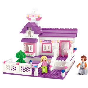 【当当自营】小鲁班粉色梦想女孩系列儿童益智拼装积木玩具 甜蜜小屋M38-B0156