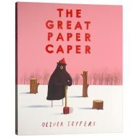The Great Paper Caper 英文版儿童绘本 大熊的纸飞机/纸飞贼 英文原版 Oliver Jeffer