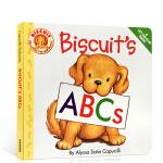 顺丰发货 英文原版 Biscuit's ABCs 小饼干系列学习字母 0-3岁幼儿英文启蒙绘本 图画翻翻书 纸板书 A