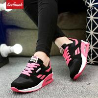 【抢购价】Coolmuch女士轻便缓震网面拼接四季百搭运动休闲慢跑鞋XR228