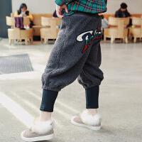 女童加绒裤 冬装双12新款童装儿童羊羔毛裤保暖加厚宽松休闲长裤