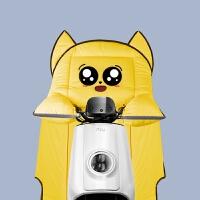 电动摩托车挡风被秋冬季PU皮防水加绒加厚冬天保暖防风罩加大防寒