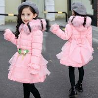 女童棉衣外套中长款5秋冬装6女孩7中大童9洋气