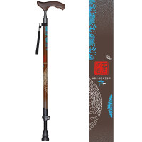 手杖 老人 碳纤维 老年人拐杖实木手柄防滑碳素老人伸缩拐棍