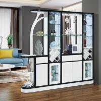 现代简约客厅隔断柜双面玄关柜大户型1.8米门厅屏风酒柜带鞋柜 组装 框架结构