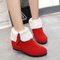 ELEISE美国艾蕾莎新品168-A101-b韩版磨砂绒面内增高女士短靴
