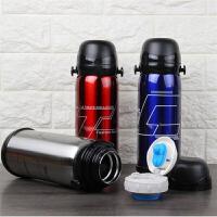 真空不锈钢保温壶800ML大容量保温杯开水瓶不锈钢旅行壶 旅游运动水壶车载热水壶 红色