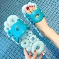 浴室拖鞋女夏洗澡防滑冲凉卫生间漏水镂空家居家用夏天凉拖鞋洞洞