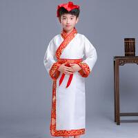 六一儿童中国风汉服演出表演服装男童古装三字经国学服古诗歌朗诵