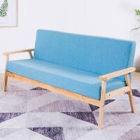 良木小户型橡胶木布艺沙发客宜家家居厅懒人沙发单人双三人旗舰