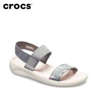 【领券下单立减100】Crocs女鞋 卡骆驰LiteRide图案沙滩涉水鞋防滑软底凉拖鞋|205375 女士LiteR