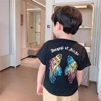 男童T恤短袖夏季儿童半袖宝宝圆领翅膀薄款上衣