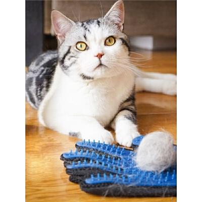 撸猫手套梳毛手套猫毛手套猫梳子猫梳猫梳子脱毛梳除毛手套洗澡梳  s7d 何以解忧 唯有撸猫