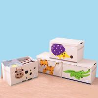 衣物整理箱 卡通可折叠儿童玩具方形收纳箱加大号储物箱被子衣物整理箱带盖