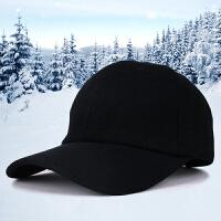秋冬季光板鸭舌帽男士户外保暖棒球帽时尚韩版简约毛呢帽