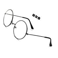女士专用电脑防辐射眼镜高清护眼抗疲劳圆框款式金属眼镜平光眼镜