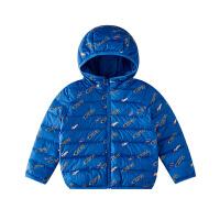小猪班纳儿童羽绒服连帽男童轻薄上衣冬装中大童童装外套短款保暖