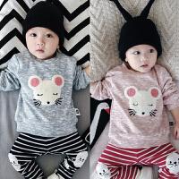 婴儿卫衣宝宝秋季双层外套长袖上衣新生满月周岁外0-3-6-9-12个月