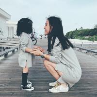 史豌豆定制亲子装2017秋季新款母女装宝宝夏装儿童裙子女童连衣裙